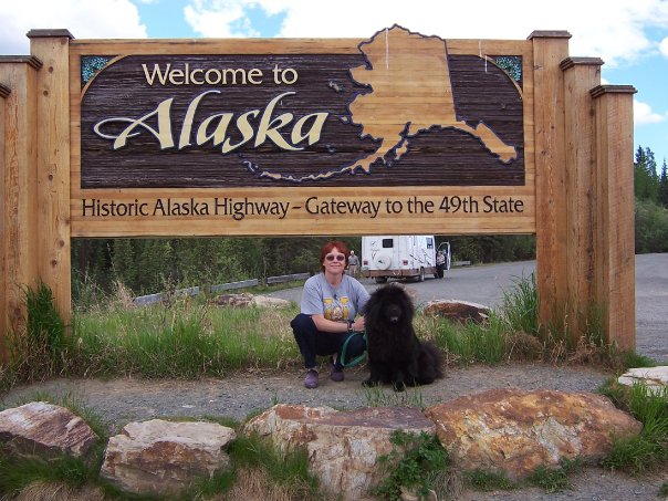 My Alaska adventure begins! After many hours of driving a U-Haul packed with my previous life, I arrived in Alaska with my late puppy, Ling